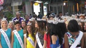 Miss America 2016 αγωνιζόμενοι απόθεμα βίντεο