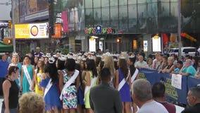 Miss America 2016 contestants stock video