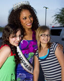 Miss Arizona USA 2010 with fans Royalty Free Stock Photos