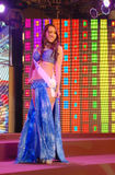 Miss aruba wearing National costume Stock Images