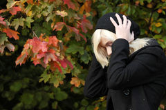 Miss Autumn Royalty Free Stock Images