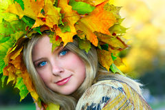 Miss Autumn Royalty Free Stock Image