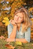 Miss autumn Royalty Free Stock Photo
