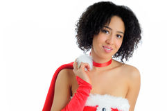 Miss Christmas Royalty Free Stock Images