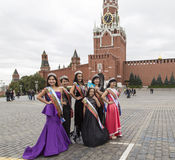 Miss congeniality in red square ,moscow kremlin. Miss congeniality in red square  is taken in moscow kremlin Stock Photo