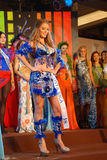 Miss costarica wearing National costume Stock Photo