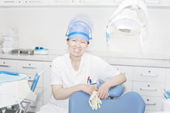 Miss dentist Stock Photo