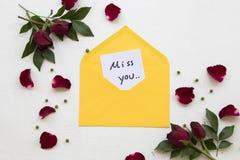 Miss dig vykortet för meddelandekorthandskrift för att överföra till sakkunniga royaltyfri foto