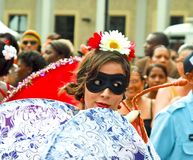 Miss Expression of carnival. Portrait. Stock Photography