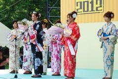 Miss Fuji на этапе в городе Fuji стоковое изображение