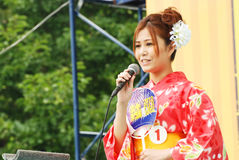 Miss Fuji beauty on main stage in Japan Royalty Free Stock Image