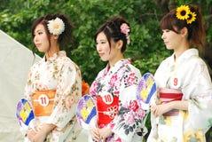 Miss Fuji Stad i den Fuji stadsfestivalen Royaltyfri Fotografi