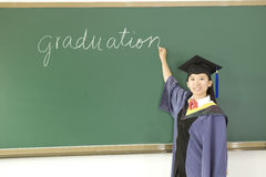 A miss graduate Stock Photo