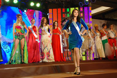Miss guam wearing National costume Stock Image