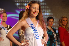 Miss hawaii Arkivfoto