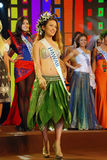 Miss hawaii with National costume Royalty Free Stock Photography