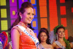 Miss Hong Kong som slitage den nationella dräkten Royaltyfria Foton