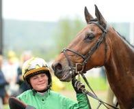 Horse Racing. Miss L m pinchin on knockaderry flyer 1st cheltenham races 5-5-17 Stock Photography
