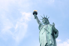 Miss Liberty in blue Stock Photo