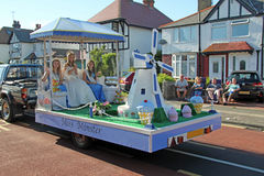 Miss Minster. Every year Whitstable organises a carnival, a chance for people to dress up and enjoy themselves, each float is judged and the best dressed royalty free stock images