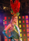 Miss netherlands wearing National costume Royalty Free Stock Photo