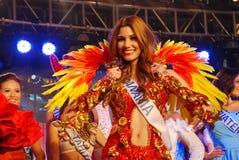 Miss panama med den nationella dräkten Royaltyfri Foto