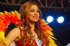 Miss panama wearing National costume Royalty Free Stock Images