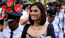 Miss Philippines, Binibining Pilipinas joins Santacruzan in Manila Royalty Free Stock Image