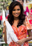 Miss Philippines, Binibining Pilipinas joins Santacruzan in Manila Stock Images