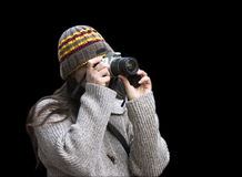 Miss photographer royalty free stock photography