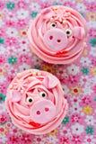 Miss piggy muffin royaltyfria foton