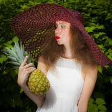 Miss Pineapple Royalty Free Stock Image