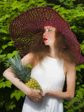 Miss Pineapple Royalty Free Stock Photography