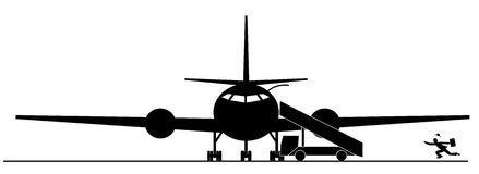 Miss the plane. Running businessman missed the airplane. Miss the opportunity royalty free illustration
