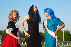 Miss Relay contestants Stock Photo