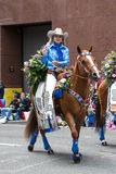Miss Rodeo from Oregon in the Grand Floral Parade Royalty Free Stock Photos