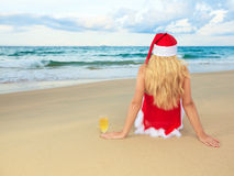 Miss Santa Royalty Free Stock Photography