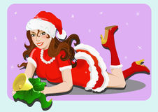 Miss Santa Royalty Free Stock Images