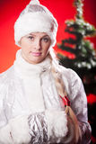 Miss santa claus Royalty Free Stock Photos