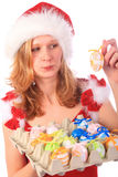 Miss Santa has Found Easter Eggs Royalty Free Stock Image