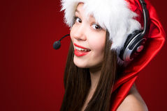 Miss Santa's calling you! Stock Images