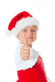 Miss santa thumbs up Stock Images