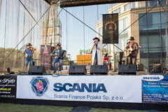 Miss Scania. Country music concert. GDANSK KOWALE. POLAND - SEPTEMBER 07 The square Scania service Kowale were held XII Miss Scania guests and the judges chose Stock Photography