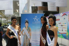 Miss Scuba International 2011. At the opening of the Deep and Extreme Indonesia 2012, international diving, adventure travel and water sports exhibition, in Stock Photography