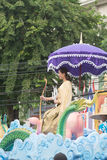 Miss Songkran in parade at Stock Photos