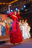 Miss spain wearing National costume Royalty Free Stock Images