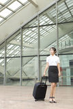 A miss staff on business trip Royalty Free Stock Image