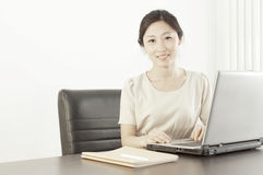 A miss staff in office stock images