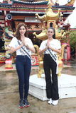 Miss Supranational Thailand 2017, Camping Trip and Activity. Phuket, Thailand - August 28, 2017 ; Miss Pageant Contest `Miss Supranational Thailand 2017` stock photography