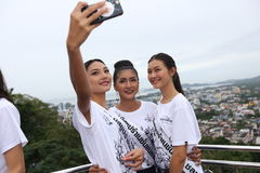 Miss Supranational Thailand 2017, Camping Trip and Activity. Phuket, Thailand - August 28, 2017 ; Miss Pageant Contest `Miss Supranational Thailand 2017` royalty free stock images